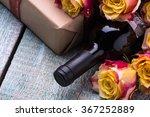 Red Wine Bottle  Present Box...