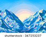 mountain landscape  blue... | Shutterstock .eps vector #367253237