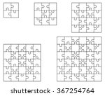 white puzzle  vector... | Shutterstock .eps vector #367254764