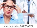 woman having a migraine...   Shutterstock . vector #367256024