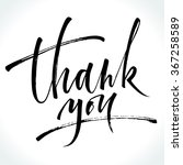 thank you modern calligraphy.... | Shutterstock .eps vector #367258589