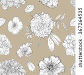 classic seamless vintage flower ... | Shutterstock .eps vector #367264535