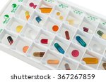 monthly pills planner with a... | Shutterstock . vector #367267859