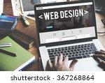 web design website homepage... | Shutterstock . vector #367268864