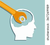 human head and a wrench. mental ... | Shutterstock .eps vector #367269989