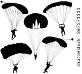 set skydiver  silhouettes... | Shutterstock .eps vector #367271111
