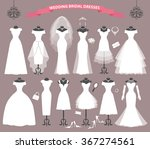 wedding dresses in different... | Shutterstock .eps vector #367274561