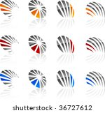 set of abstract vector icons... | Shutterstock .eps vector #36727612