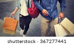 shopping couple capitalism... | Shutterstock . vector #367277441