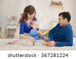 young parents and cute son play ...   Shutterstock . vector #367281224