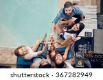 overhead view of group of... | Shutterstock . vector #367282949