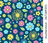 pattern flowers | Shutterstock .eps vector #367289351