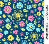 pattern flowers | Shutterstock .eps vector #367289351