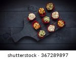 candied caramelized nuts on... | Shutterstock . vector #367289897