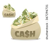 cash bag. money in the bag.... | Shutterstock .eps vector #367296731