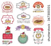 vintage bakery sweet cakes logo ... | Shutterstock .eps vector #367300331