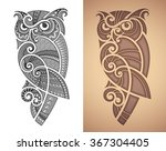 maori styled tattoo pattern of... | Shutterstock .eps vector #367304405