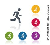 running icon | Shutterstock .eps vector #367306121
