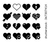 abstract hearth icon set.... | Shutterstock .eps vector #367307414