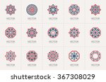 geometric logo template set.... | Shutterstock .eps vector #367308029