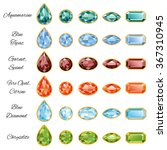 sets of different cut gemstones ... | Shutterstock . vector #367310945