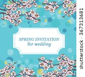 floral invitation for wedding.... | Shutterstock .eps vector #367313681