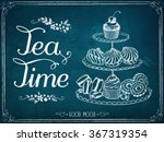 illustration with the words tea ... | Shutterstock .eps vector #367319354