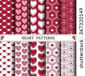 heart vector pattern pattern...   Shutterstock .eps vector #367320149