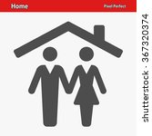 home icon. professional  pixel... | Shutterstock .eps vector #367320374
