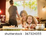 portrait of a mother and her... | Shutterstock . vector #367324355
