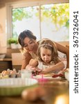 a mother and her four years old ... | Shutterstock . vector #367326041