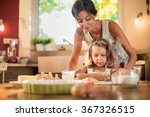 a mother and her 4 years old... | Shutterstock . vector #367326515