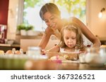 a mother and her 4 years old... | Shutterstock . vector #367326521