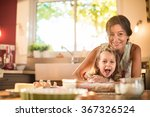 a mother and her four years old ... | Shutterstock . vector #367326524