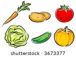 vegetables vector illustration   Shutterstock .eps vector #3673377