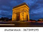 arc de triomphe in paris  france   Shutterstock . vector #367349195