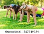 group of friends or sportsmen... | Shutterstock . vector #367349384