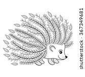 hand drawn artistic hedgehog... | Shutterstock .eps vector #367349681