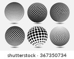halftone sphere.halftone vector ... | Shutterstock .eps vector #367350734