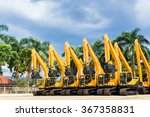 asian vehicle fleet with... | Shutterstock . vector #367358831