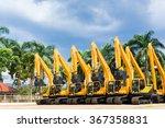 asian vehicle fleet with... | Shutterstock . vector #367358831
