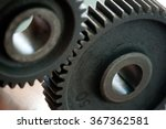 closeup of two gearing  cogs | Shutterstock . vector #367362581