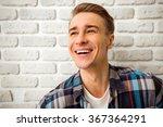 beautiful young man in casual...   Shutterstock . vector #367364291