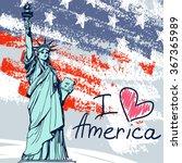 world famous landmark of... | Shutterstock .eps vector #367365989