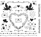 set of romantic elements for... | Shutterstock .eps vector #367368131