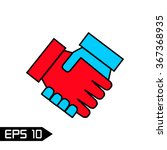 handshake icon vector...