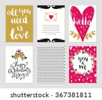 romantic cards collection.... | Shutterstock .eps vector #367381811