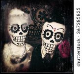 Day Of The Dead Wedding Couple...