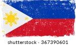 philippines vector grunge flag... | Shutterstock .eps vector #367390601
