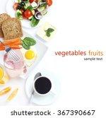 breakfast salad vegetables... | Shutterstock . vector #367390667